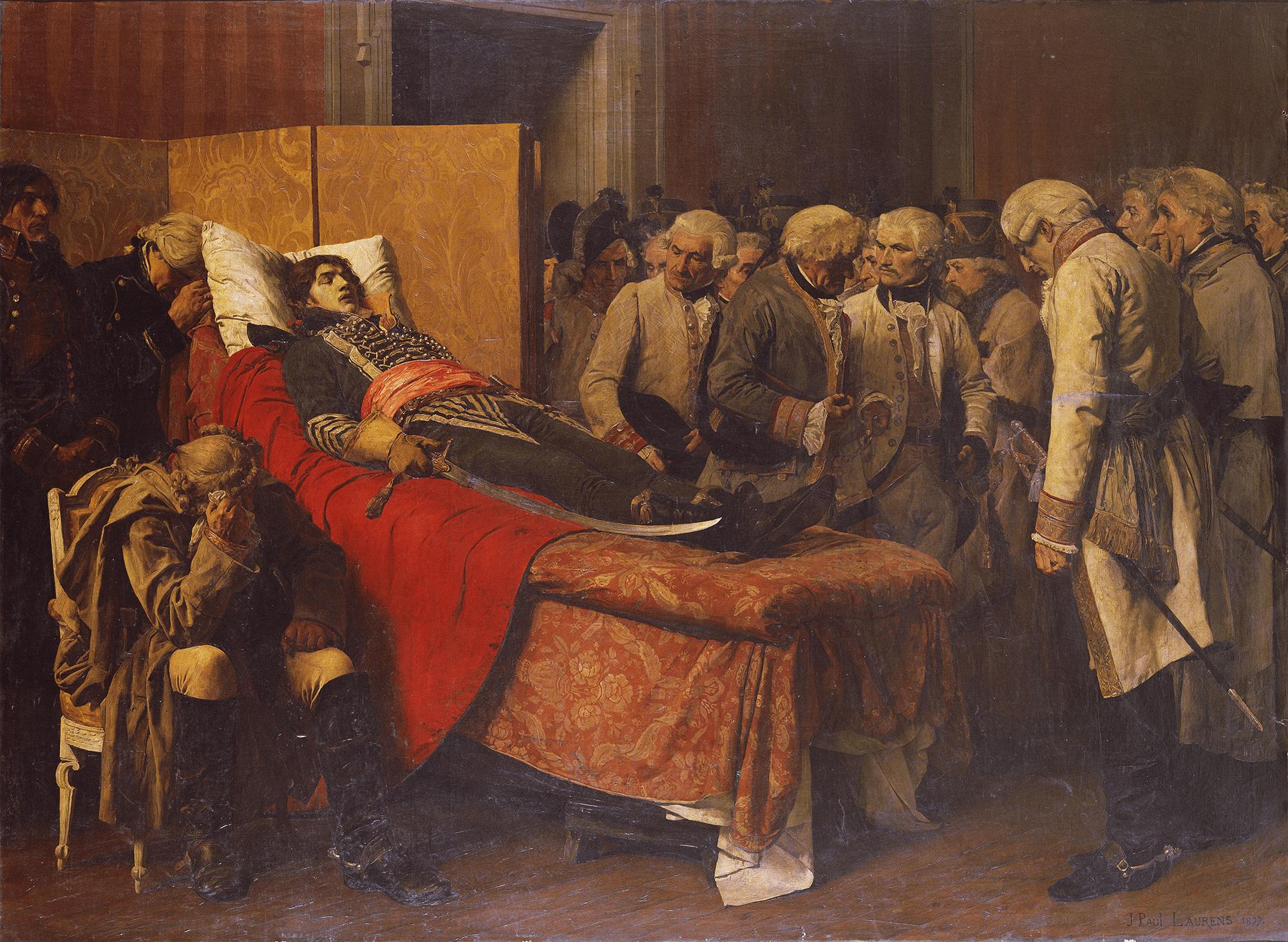マルソー将軍の遺体の前のオーストリアの参謀たち